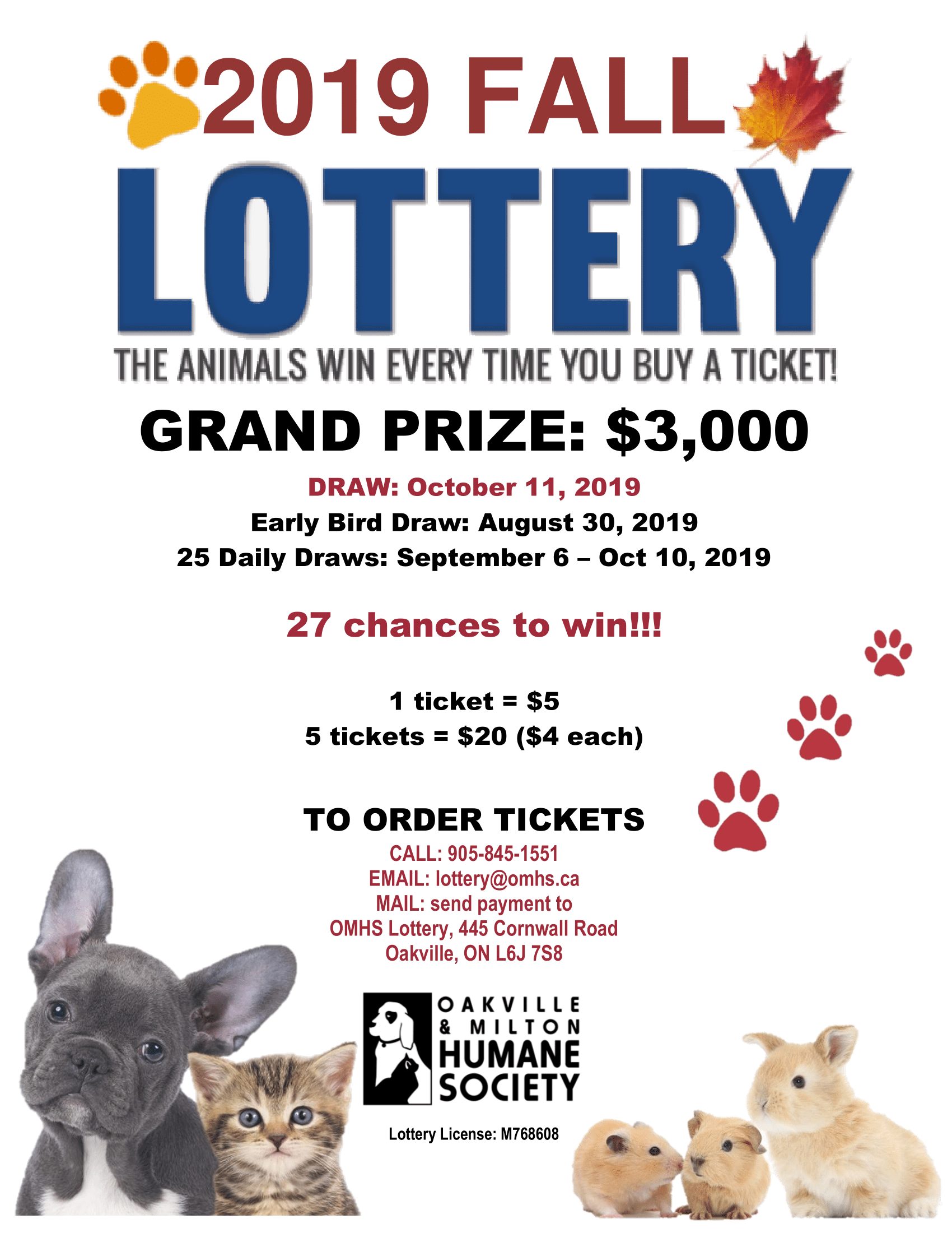Fall Lottery Poster RD 1 - Lottery