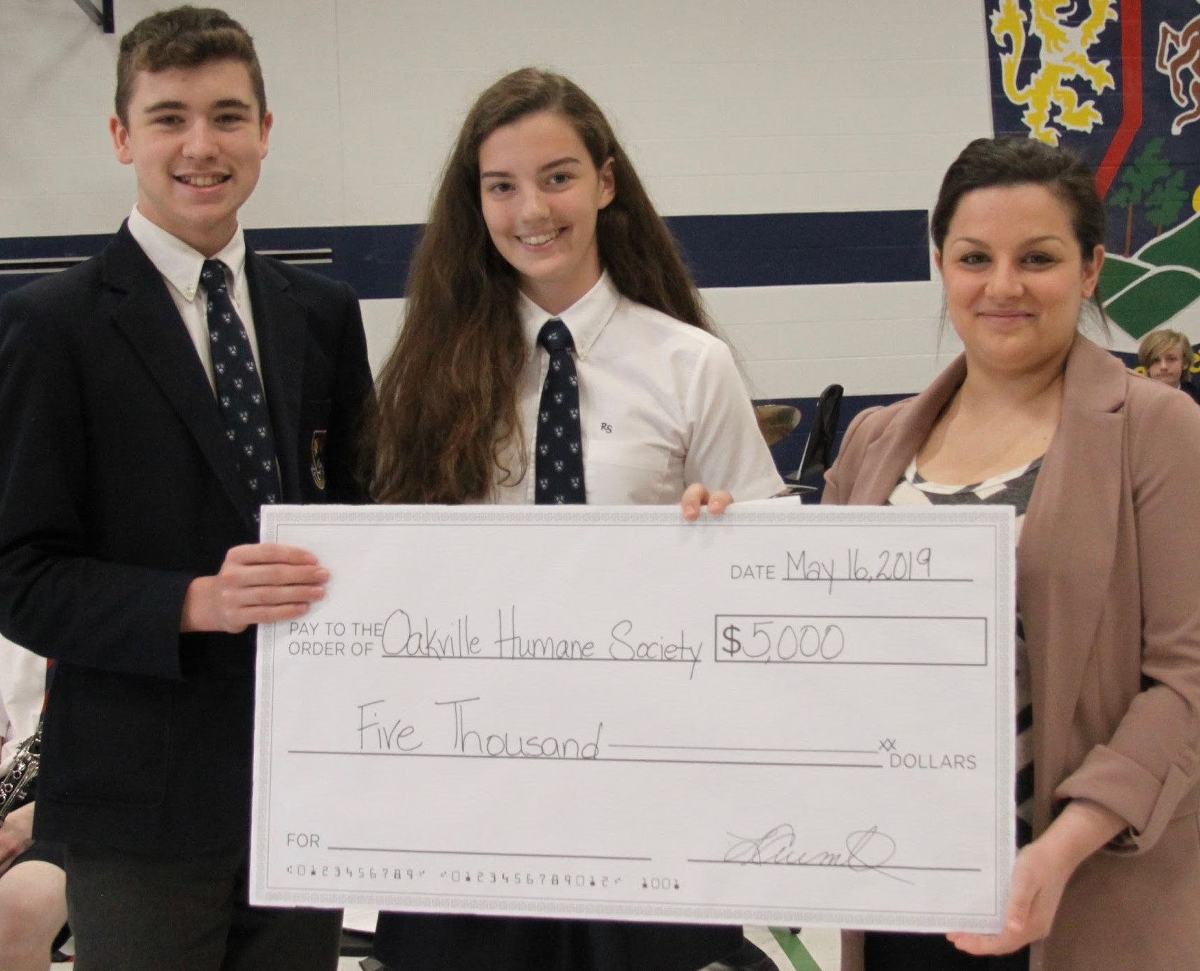 rotherglanstory - ROTHERGLEN STUDENTS DONATE $5,000 to OMHS